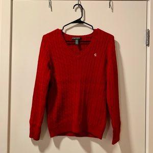 LAUREN Ralph Lauren Red Sweater - Size S